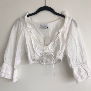 NWT Urban Outfitters White Cropped blouse